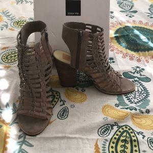 Gladiator chunky heels